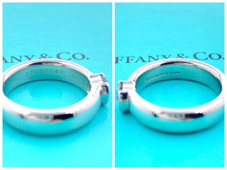 Tiffany & Co. Etoile Round Diamond 0.56 TCW H VVS2 Engagement Ring Platinum For Sale 10