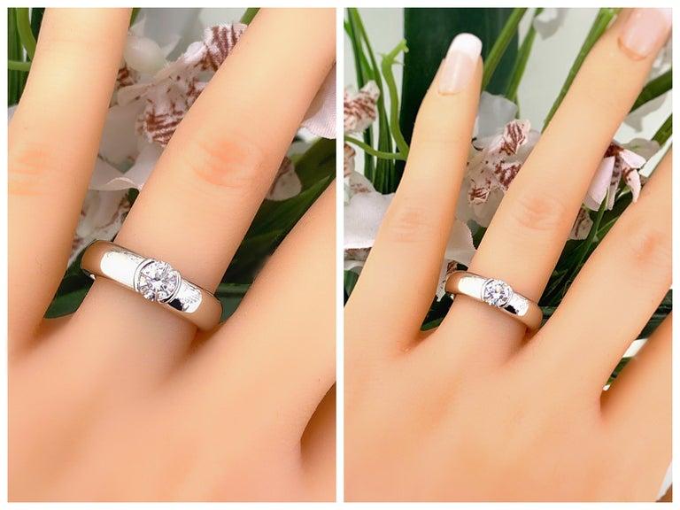 Tiffany & Co. Etoile Round Diamond 0.56 TCW H VVS2 Engagement Ring Platinum For Sale 11