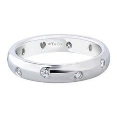 Tiffany & Co. Etoile Round Diamond Wedding Band in Platinum