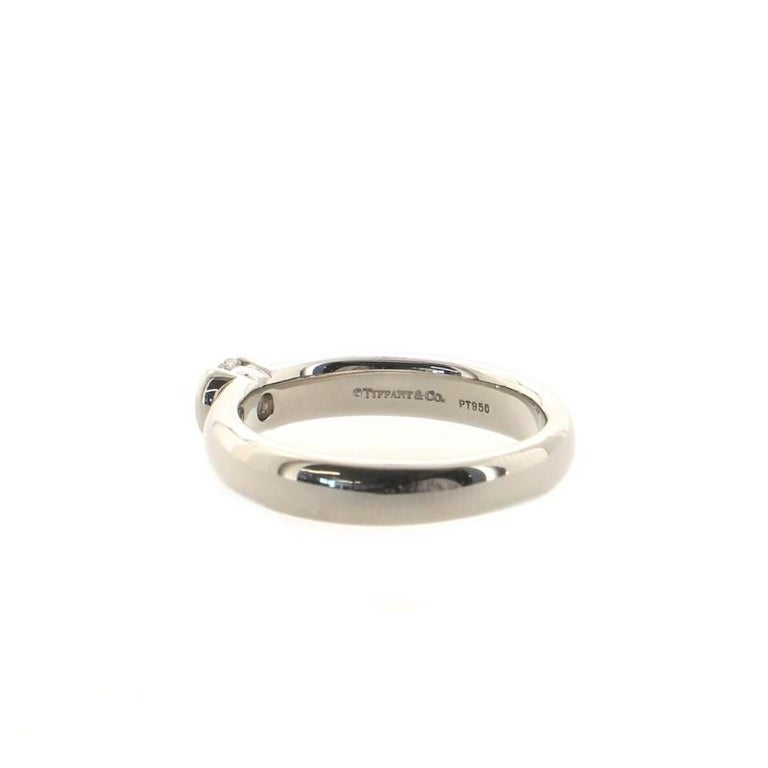 Women's or Men's Tiffany & Co. Etoile Solitaire Ring Platinum with Diamond For Sale