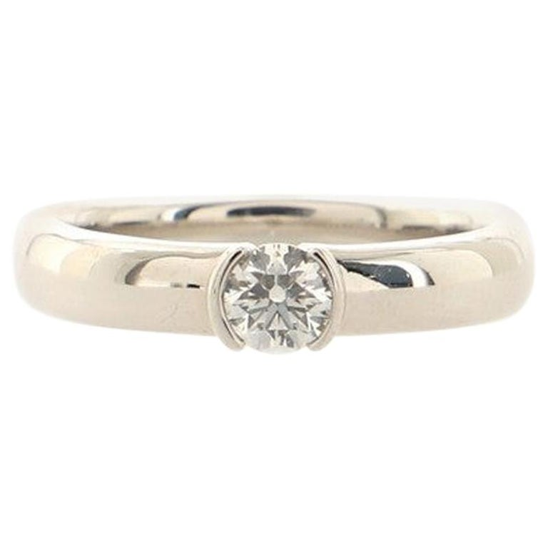 Tiffany & Co. Etoile Solitaire Ring Platinum with Diamond For Sale
