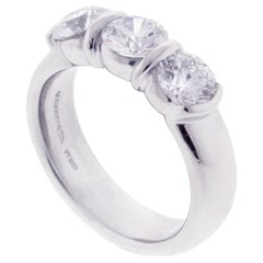Tiffany & Co. Etoile Three-Stone Diamond Ring