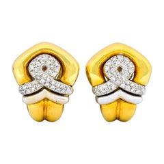 Tiffany & Co. Faraone 1.10 Carat Diamond 18 Karat Gold Ear-Clip Earrings