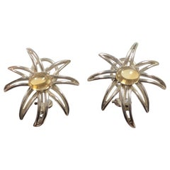 Tiffany & Co. Fireworks Silver and Citrine Earrings