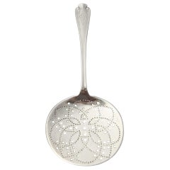 Tiffany & Co Flemish Sterling Silver Pierced Tomato Server with Monogram