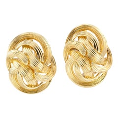 Tiffany & Co. Fluted Yellow Gold Clip Earrings