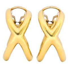 Tiffany & Co. Forever X 18 Karat Gold Ear-Clip Earrings
