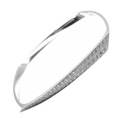 Tiffany & Co. Frank Gehry Torque White Gold Diamond Bangle