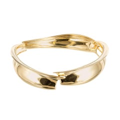 Tiffany & Co. Frank Gehry Yellow Gold Bangle Bracelet