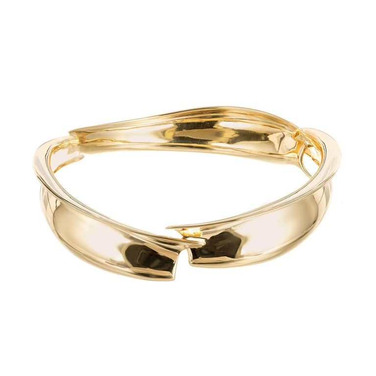 11bfee5f2 Tiffany and Co. Frank Gehry Yellow Gold Bangle Bracelet For Sale at ...