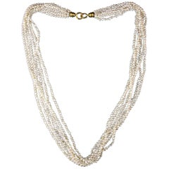 Tiffany & Co. Freshwater Pearl Necklace with 18 Karat Gold Clasp