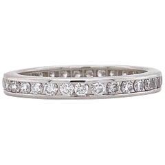Tiffany & Co. Full Circle Eternity Wedding Band Ring 0.56 Carat Platinum