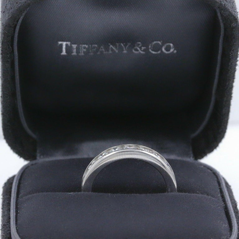 Tiffany & Co. Full Circle Platinum Diamond Eternity Band Ring 1.80 Carat For Sale 3