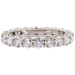 Tiffany & Co. Full Circle Round Diamond Embrace Band Ring 1.76 Carat Platinum