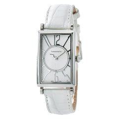 Tiffany & Co. Gallery 6654 With 6.5 in. Band, Stainless-Steel Bezel & White Dial