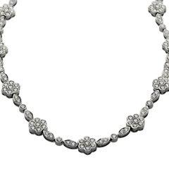 Tiffany & Co. Garden Flower Diamond Platinum Necklace