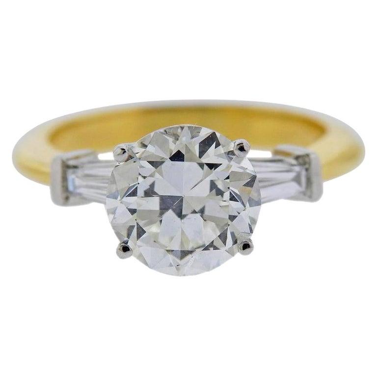 Tiffany & Co GIA 3.03 Carat I VS1 Diamond Platinum Engagement Ring For Sale