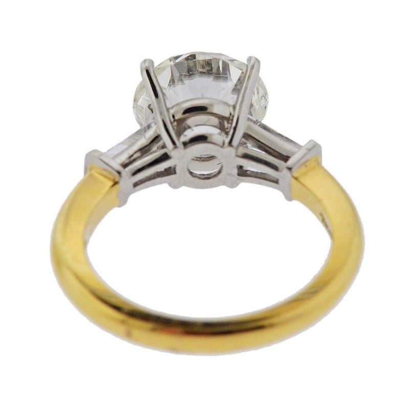 Tiffany & Co GIA 3.03 Carat I VS1 Diamond Platinum Engagement Ring In Excellent Condition For Sale In New York, NY