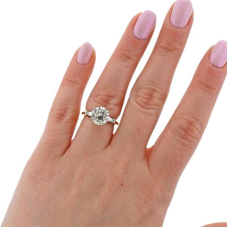 Tiffany & Co GIA 3.03 Carat I VS1 Diamond Platinum Engagement Ring For Sale 1