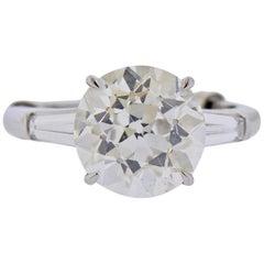 Tiffany & Co. GIA 5.56 Carat I VVS2 Old European Diamond Platinum Ring