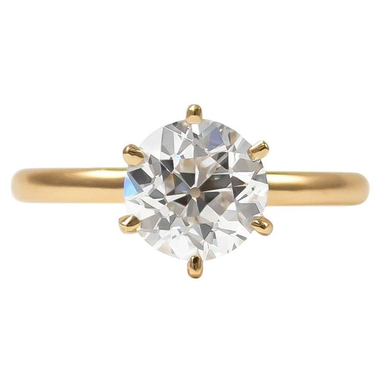Tiffany & Co. GIA Certified 1.22 Carat Old European Cut Diamond Solitaire Ring For Sale