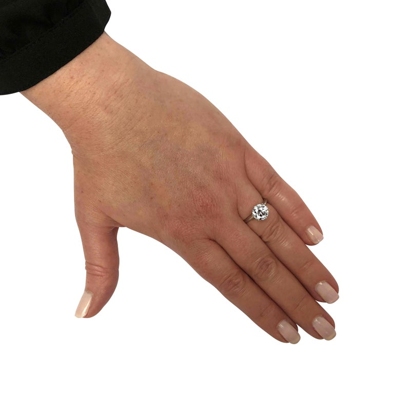 Round Cut Tiffany & Co. GIA Certified 2.23 Carat Diamond Engagement Ring For Sale