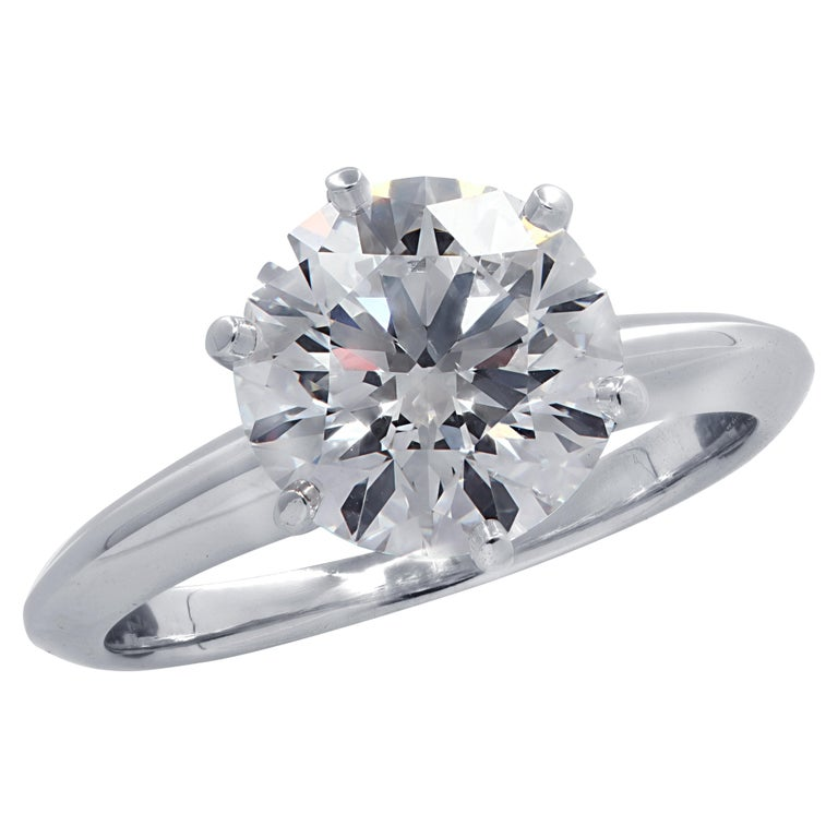 Tiffany & Co. GIA Certified 2.23 Carat Diamond Engagement Ring For Sale