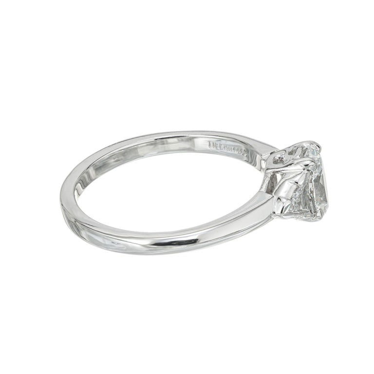 Women's Tiffany & Co. GIA Certified .58 Carat Diamond Platinum Engagement Ring For Sale