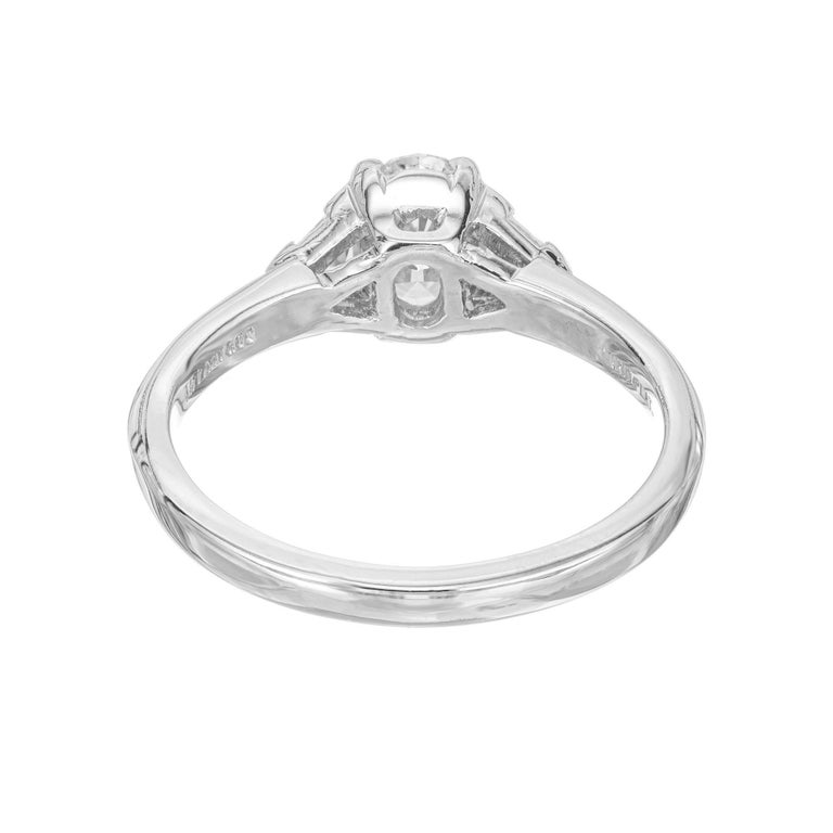 Tiffany & Co. GIA Certified .58 Carat Diamond Platinum Engagement Ring For Sale 1