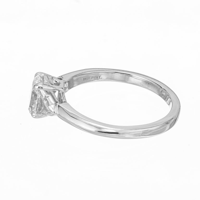 Tiffany & Co. GIA Certified .58 Carat Diamond Platinum Engagement Ring For Sale 2
