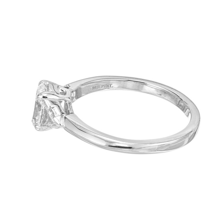 Tiffany & Co. GIA Certified .58 Carat Diamond Platinum Engagement Ring For Sale 4