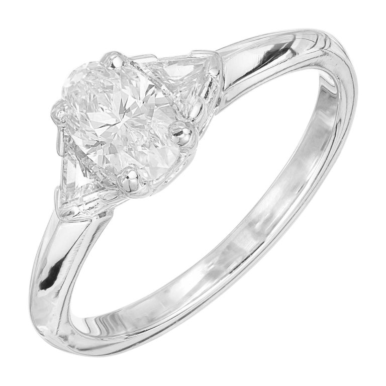 Tiffany & Co. GIA Certified .58 Carat Diamond Platinum Engagement Ring For Sale