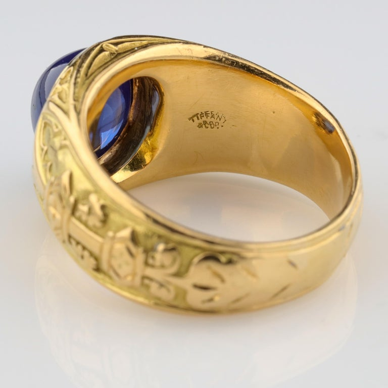 Women's or Men's Tiffany & Co. Gilded Age Men's Sapphire Ring as Featured in The New York Times For Sale