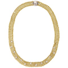 Tiffany & Co. Gold and Diamond Necklace