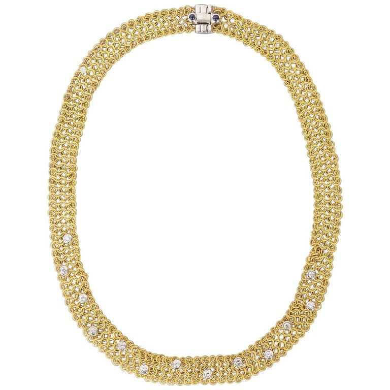 Tiffany & Co. Gold and Diamond Necklace For Sale