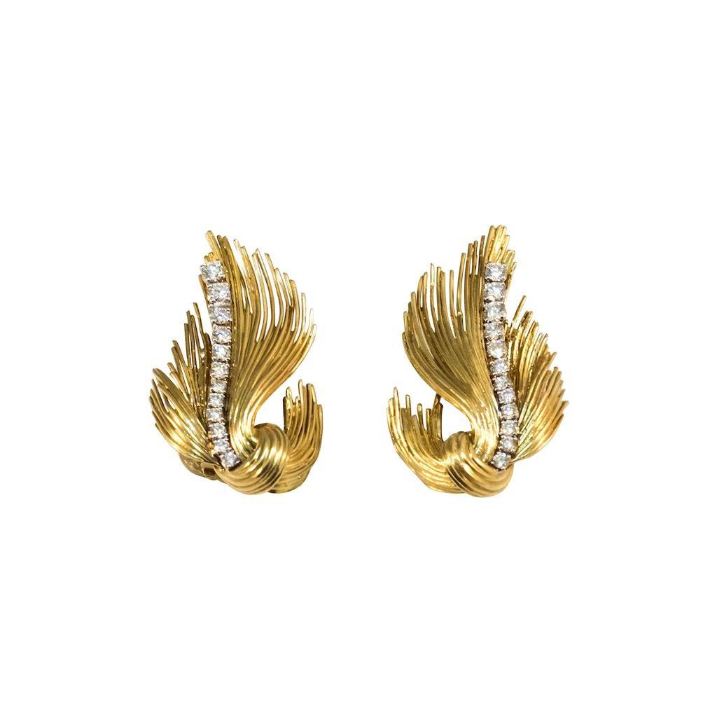 Tiffany & Co. Gold and Diamonds Earrings