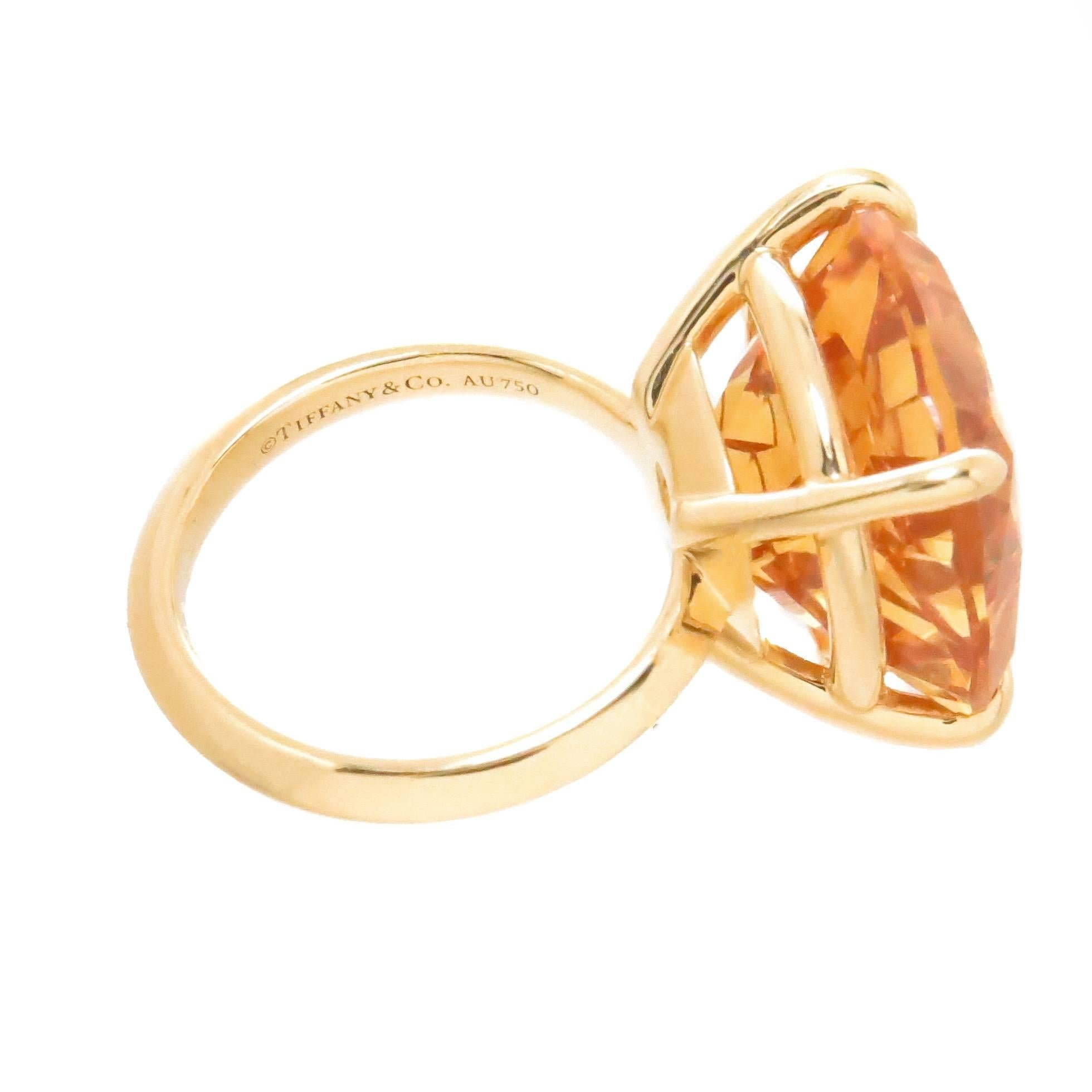 4f4c89307 Tiffany and Co. Gold and Large Citrine Sparklers Collection Ring at 1stdibs