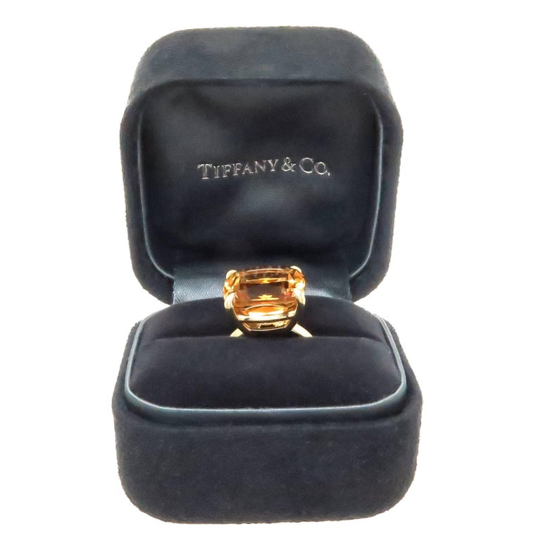 d5cd6113f Women's Tiffany & Co. Gold and Large Citrine Sparklers Collection Ring For  Sale