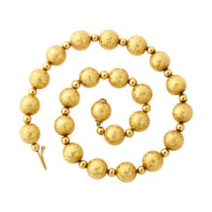 Tiffany & Co. Gold Ball Necklace