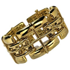 "Tiffany & Co. Gold Link ""Biscayne"" Bracelet"