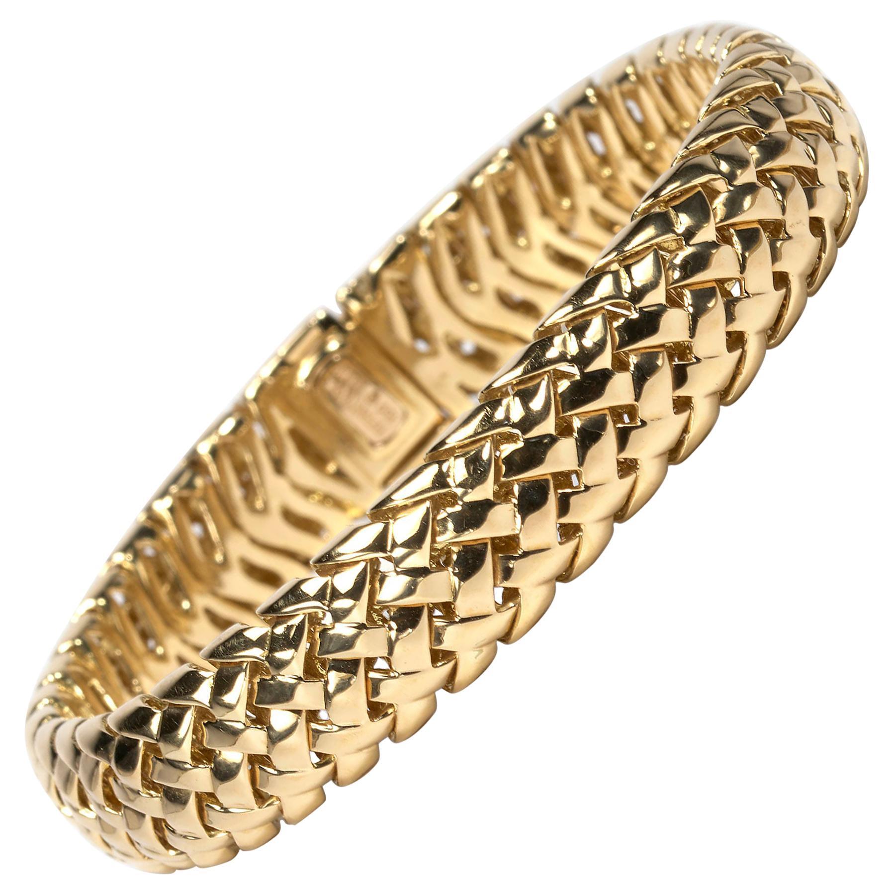 "Tiffany & Co. Gold ""Vannerie"" Bracelet"