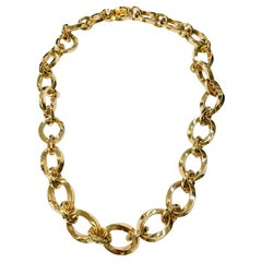 Tiffany & Co. Gold Chain Necklace and Bracelet Combo