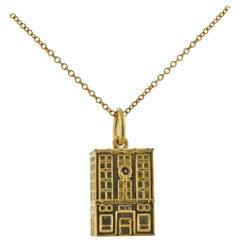 Tiffany & Co. Gold Charm Pendant Necklace