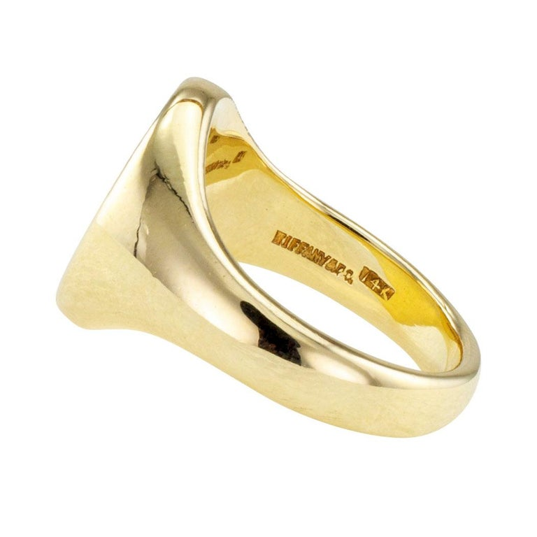 a67f9a3f9 Modern Tiffany & Co. Gold Crest Signet Ring For Sale