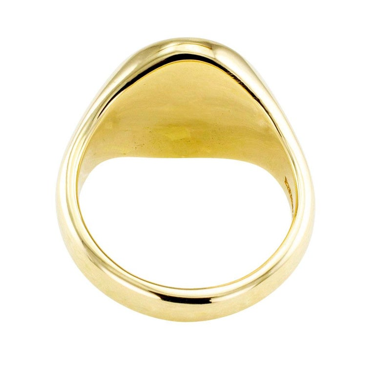 8a38cf0b0 Tiffany & Co. Gold Crest Signet Ring In Excellent Condition For Sale In Los  Angeles