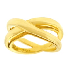 Tiffany & Co. Gold Cross Over Ring