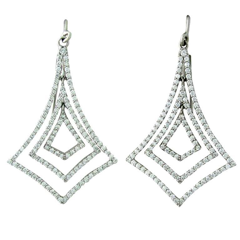 Tiffany & Co. Gold Diamond Earrings