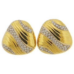 Tiffany & Co. Gold Diamond Earrings