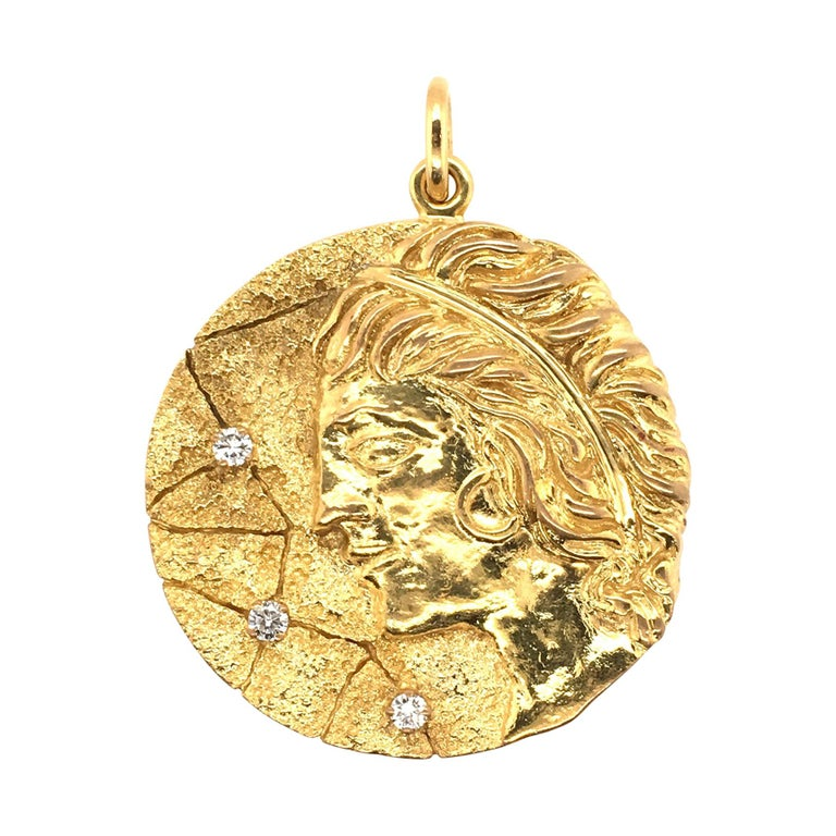 "TIFFANY & CO. Gold & Diamond ""Virgo"" Pendant. For Sale"