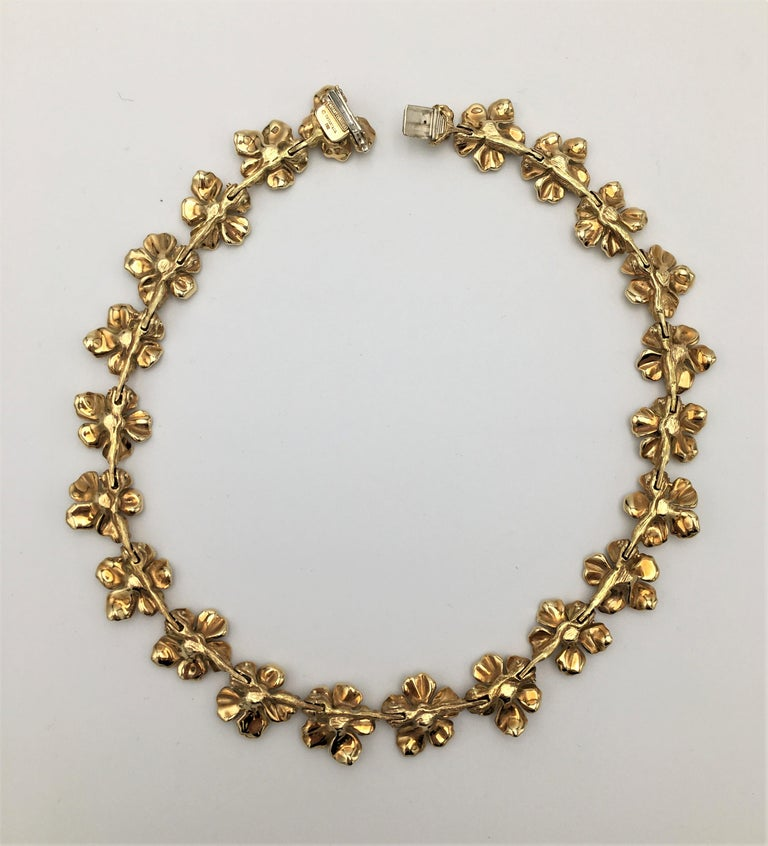 Tiffany & Co. Gold Dogwood Flower Necklace For Sale 1